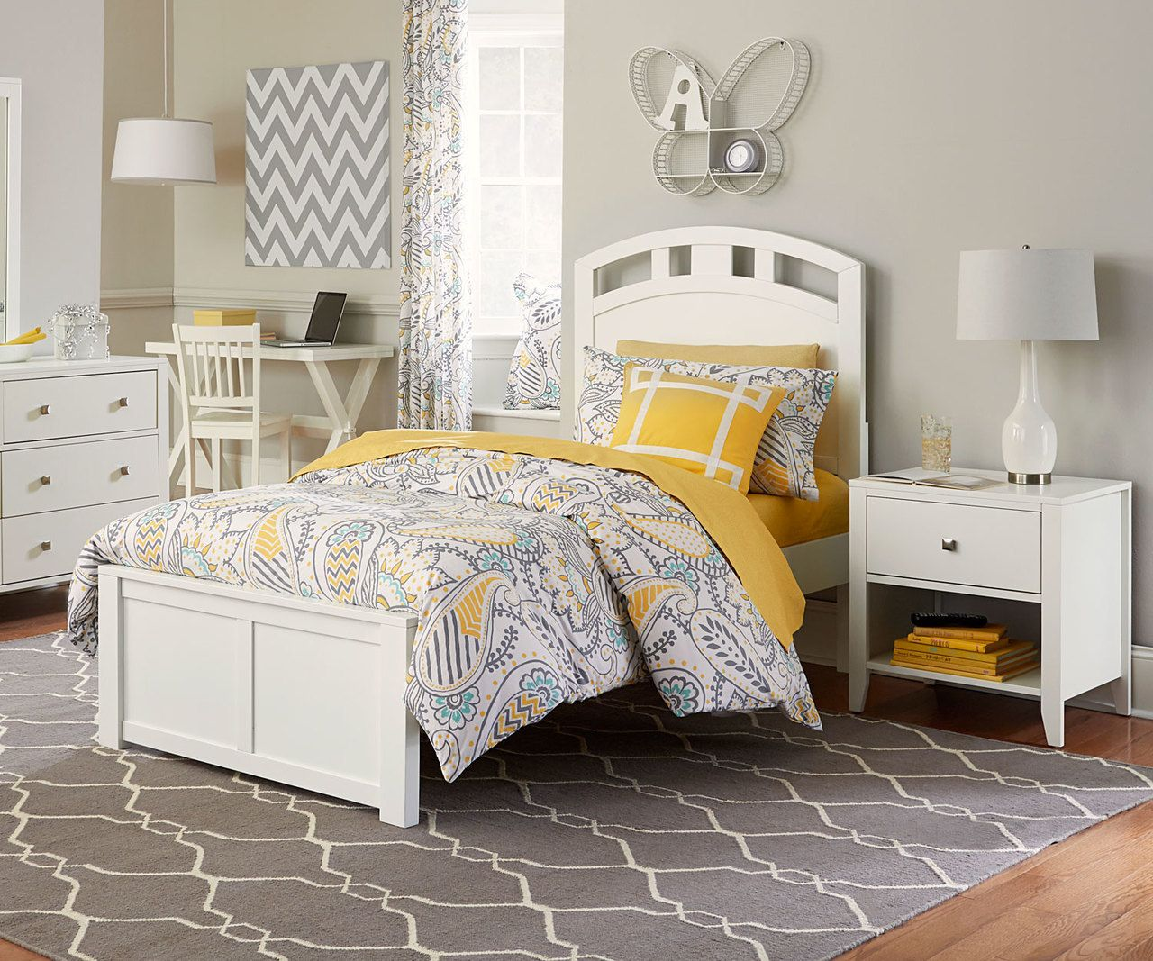 Urbana Platform Bed Twin Size White in 2019 Bed, Bed
