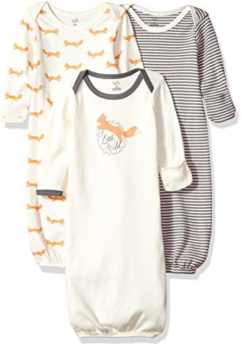 Touched By Nature Baby 3 Pack Organic Cotton Gown Organic Cotton