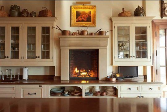 The Ultimate Cozy Kitchen Fireplaces Kitchen Fireplace Kitchen