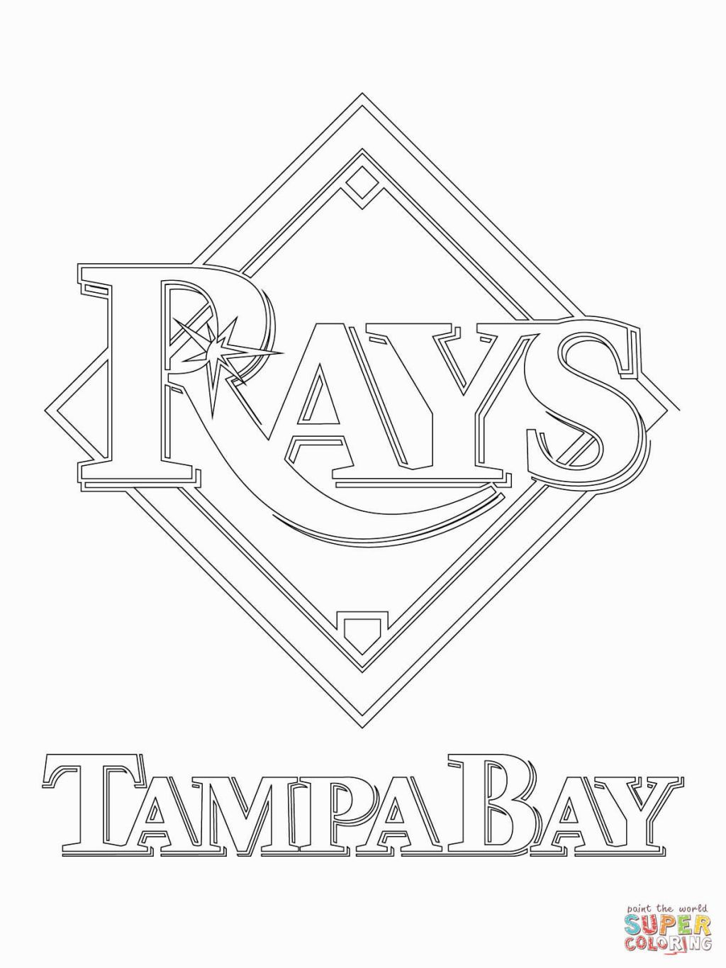 Tampa Bay Buccaneers Coloring Pages Baseball Mlb Tampa