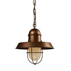 Landmark Lighting Farmhouse Pendant Bellwether Copper 65049-1