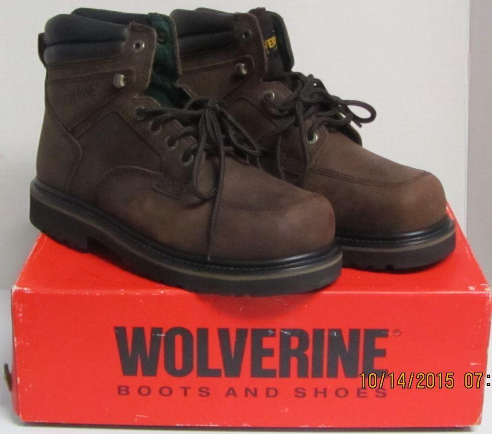 Wolverine Work Boots Oblique Moc Toe 6 Steel Toe 03134 Copper