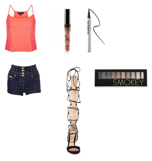 Untitled #71 by xxxdunphersxxx on Polyvore featuring polyvore, Topshop, Jane Norman, Gianvito Rossi, Forever 21, Bare Escentuals, fashion, style and clothing