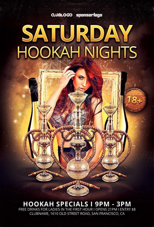 Hookah Nights Free Flyer Template  HttpFreepsdflyerComHookah