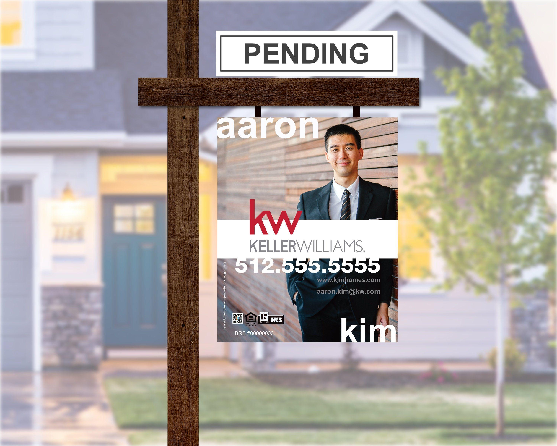 Digital pdf made to order keller williams yard sign for