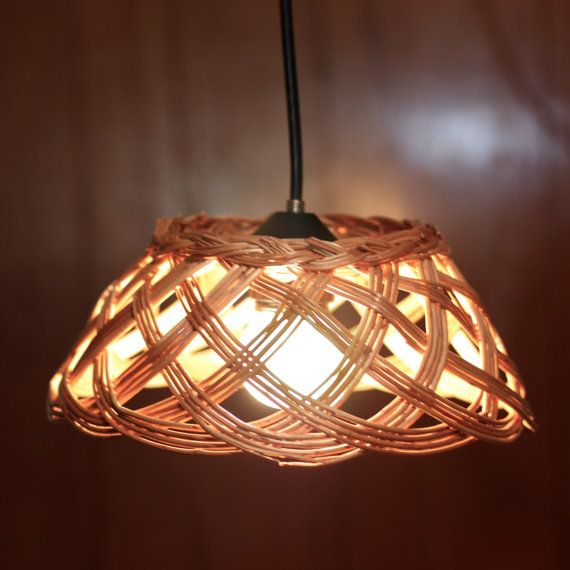 Basket Pendant Light Repurposed Basket Light Fixture Recycled Lighting Diy Light Fixtures Diy Pendant Light Basket Lighting