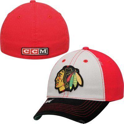 0a57b20fa9ac16 Men's Chicago Blackhawks CCM Gray Sandblasted Flex Hat | My NHL Wish ...