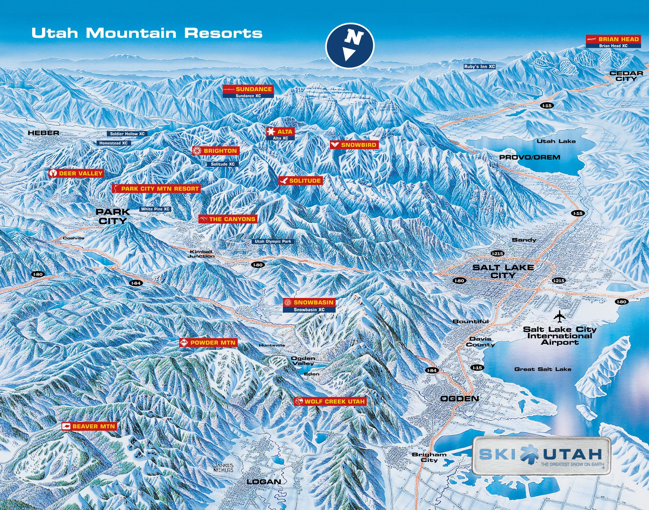 Ski Utah Map Utah Ski Resorts Map | Ski Utah in 2019 | Utah ski resorts, Park