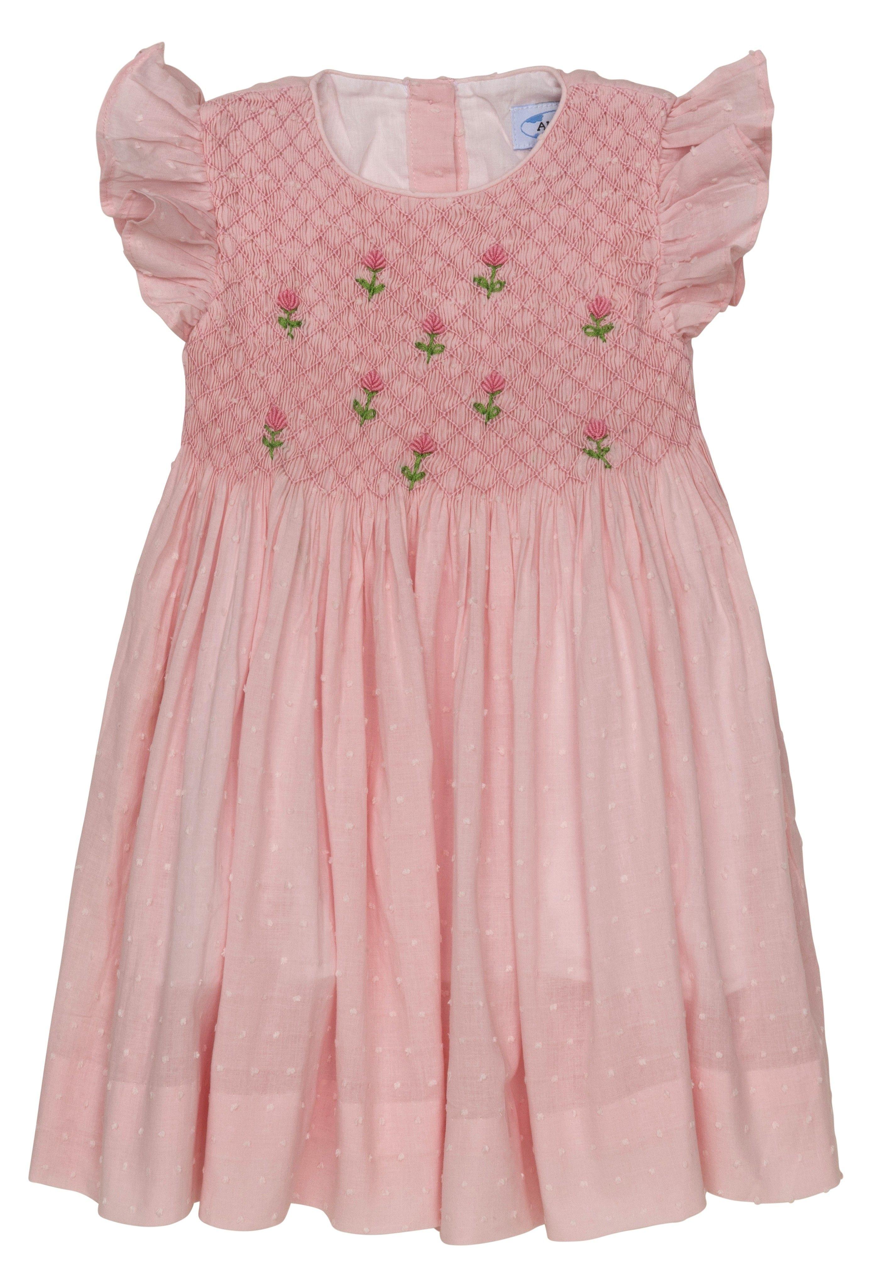 Aurora Royal English Rose Hand Smocked Hand Dress Limited Hand Smocked Toddler Girl Toddler Girl Dresses Hand Smocked Dress Girls Smocked Dresses