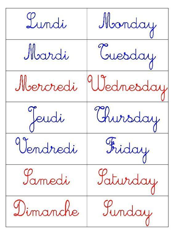 Apprendre à prononcer les jours de la semaine en anglais