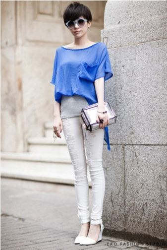 Chic Women's Chiffon 2 in 1 Shirt with Boat Neck on BuyTrends.com, only price $8.25