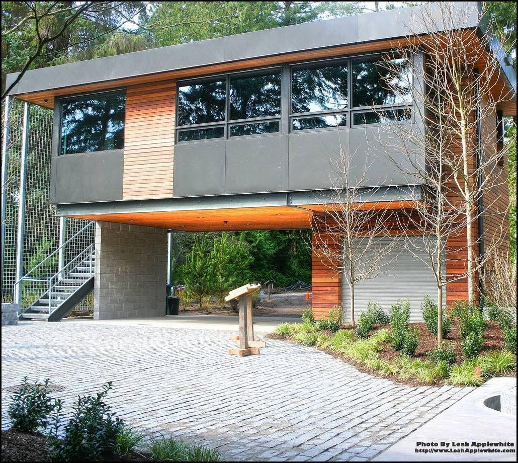 Contemporary Garages Modern House Design House On Stilts Modern Garage