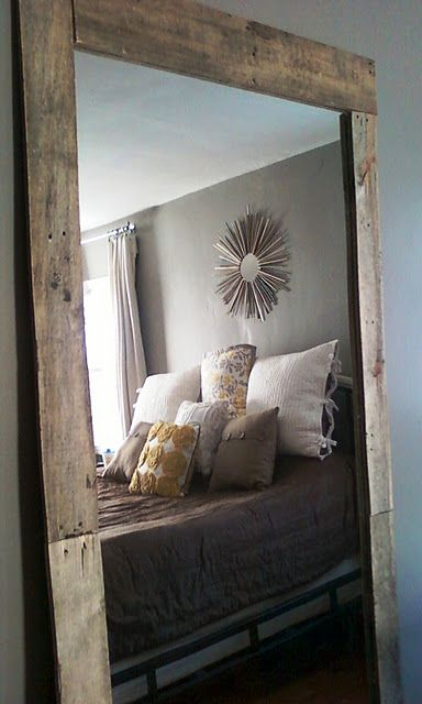 Diy Mirror With Natural Wood Frame Home Decor
