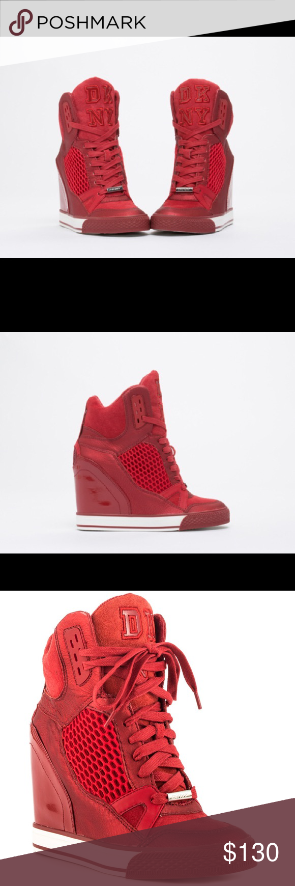 72a9269b4af DKNY Giada sneaker wedge in Cardinal Red US women s 8