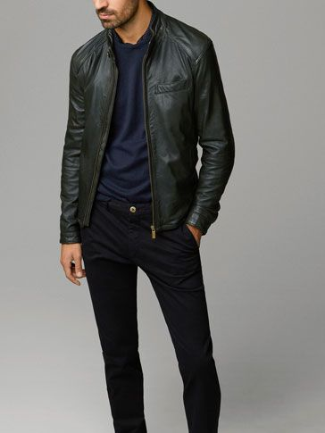 f5b452c81c NAPPA LEATHER JACKET WITH MANDARIN COLLAR - View all - Leather ...