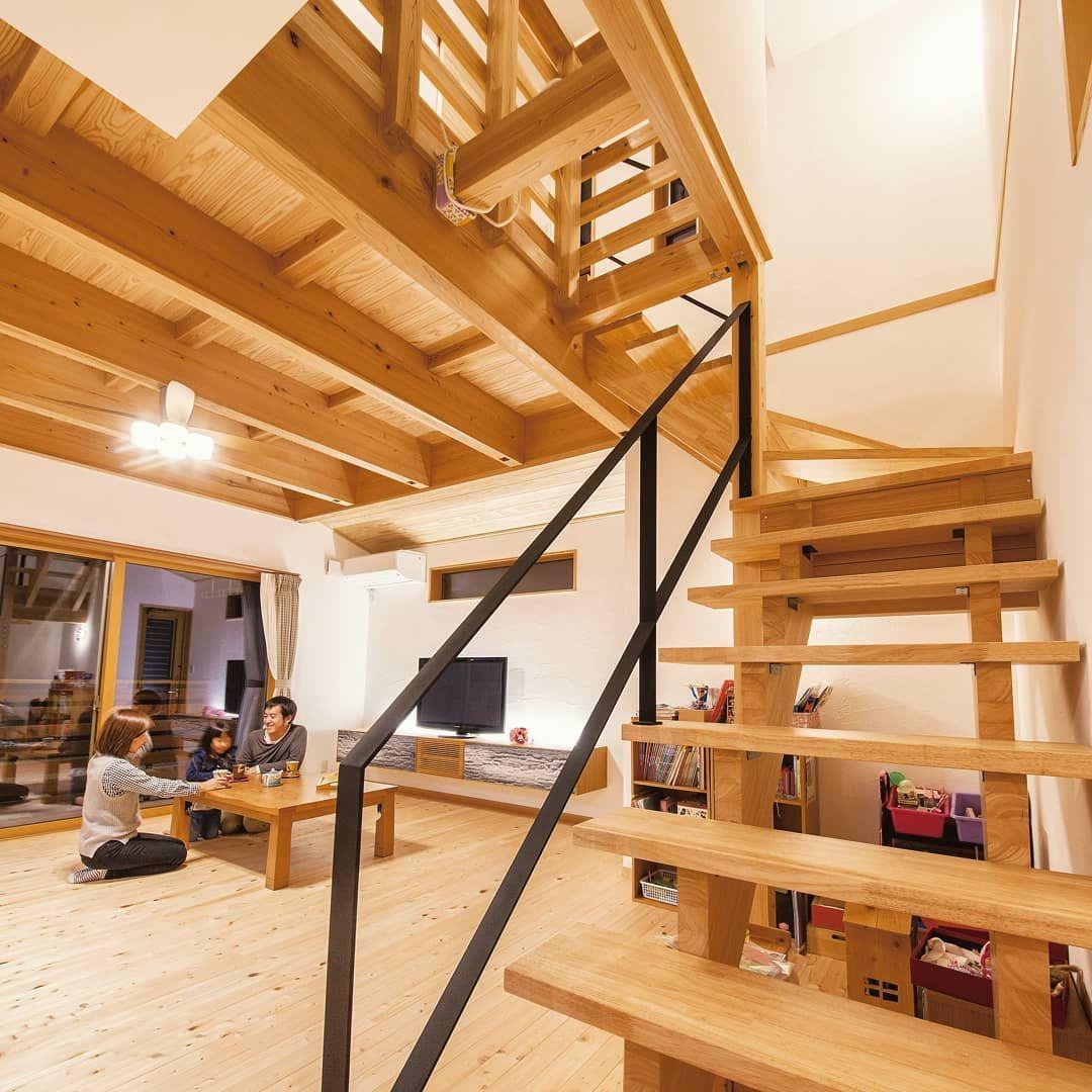 間瀬建設株式会社さんはinstagramを利用しています 二階への階段