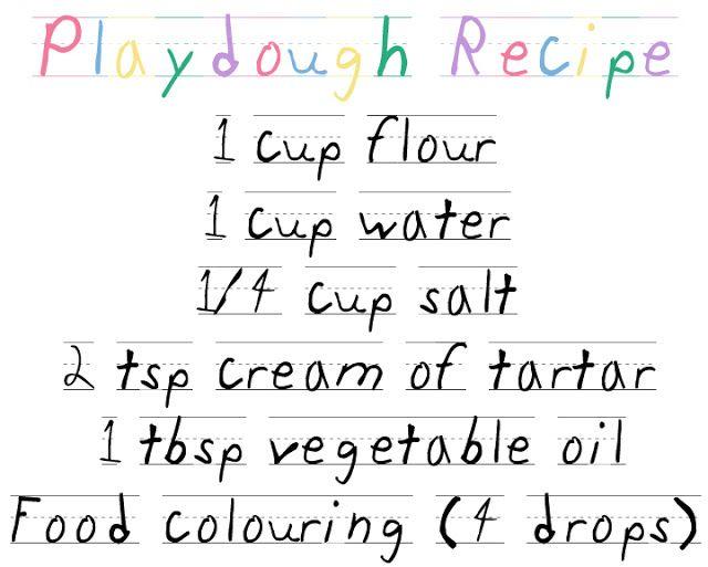 thegluegungirl: Keep The Kids Quiet: How To Make Playdough