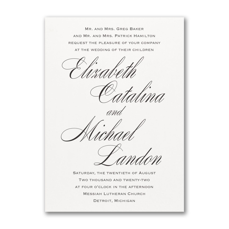 Traditional Engraved Wedding Invitations: Wedding Invitations In 2019
