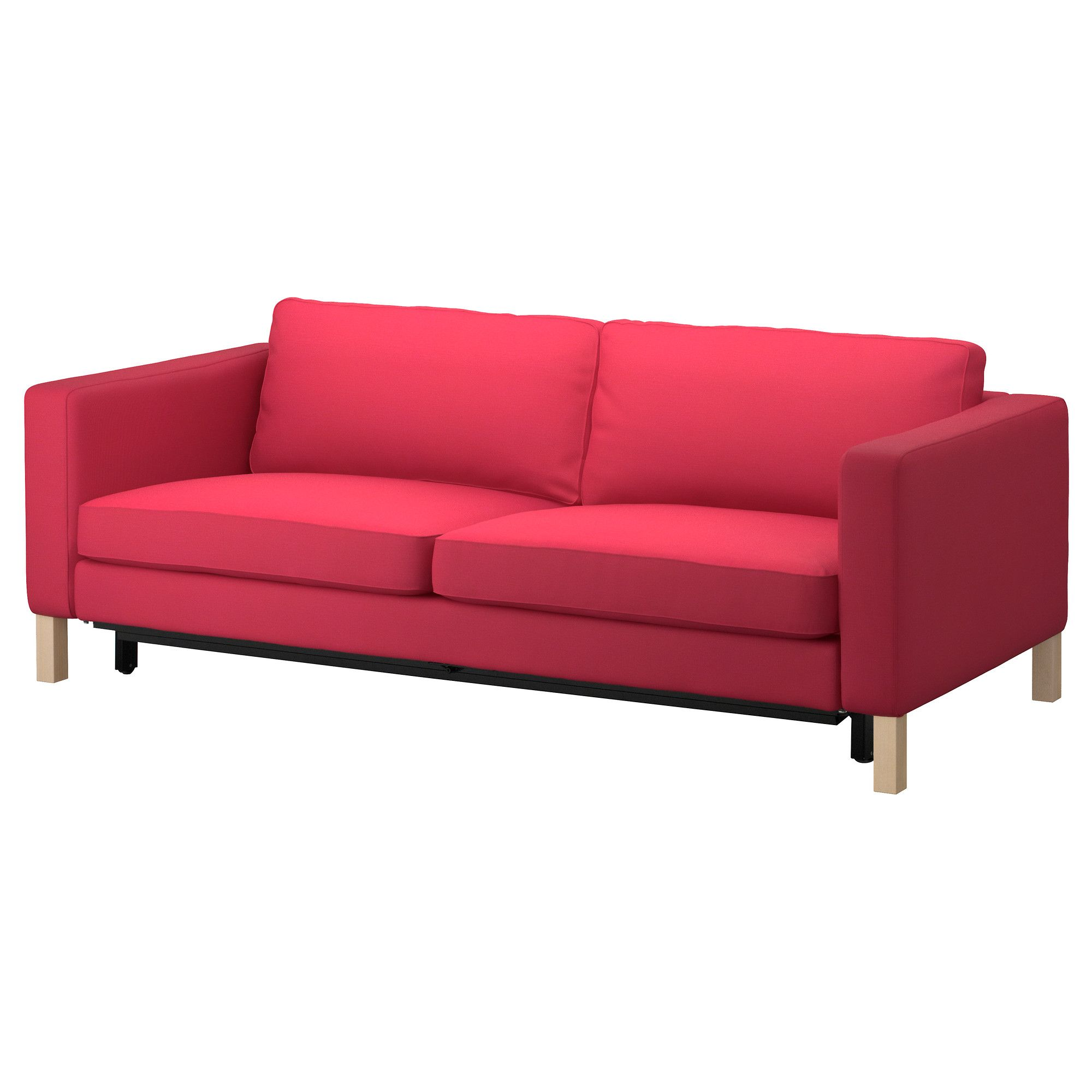 Ikea sofa bed with storage - Karlstad Sofa Bed Sivik Pink Red Ikea
