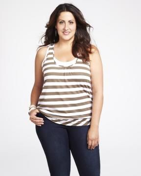 striped double layer tank | Shop Online at Addition Elle #AdditionElleOntheRoad