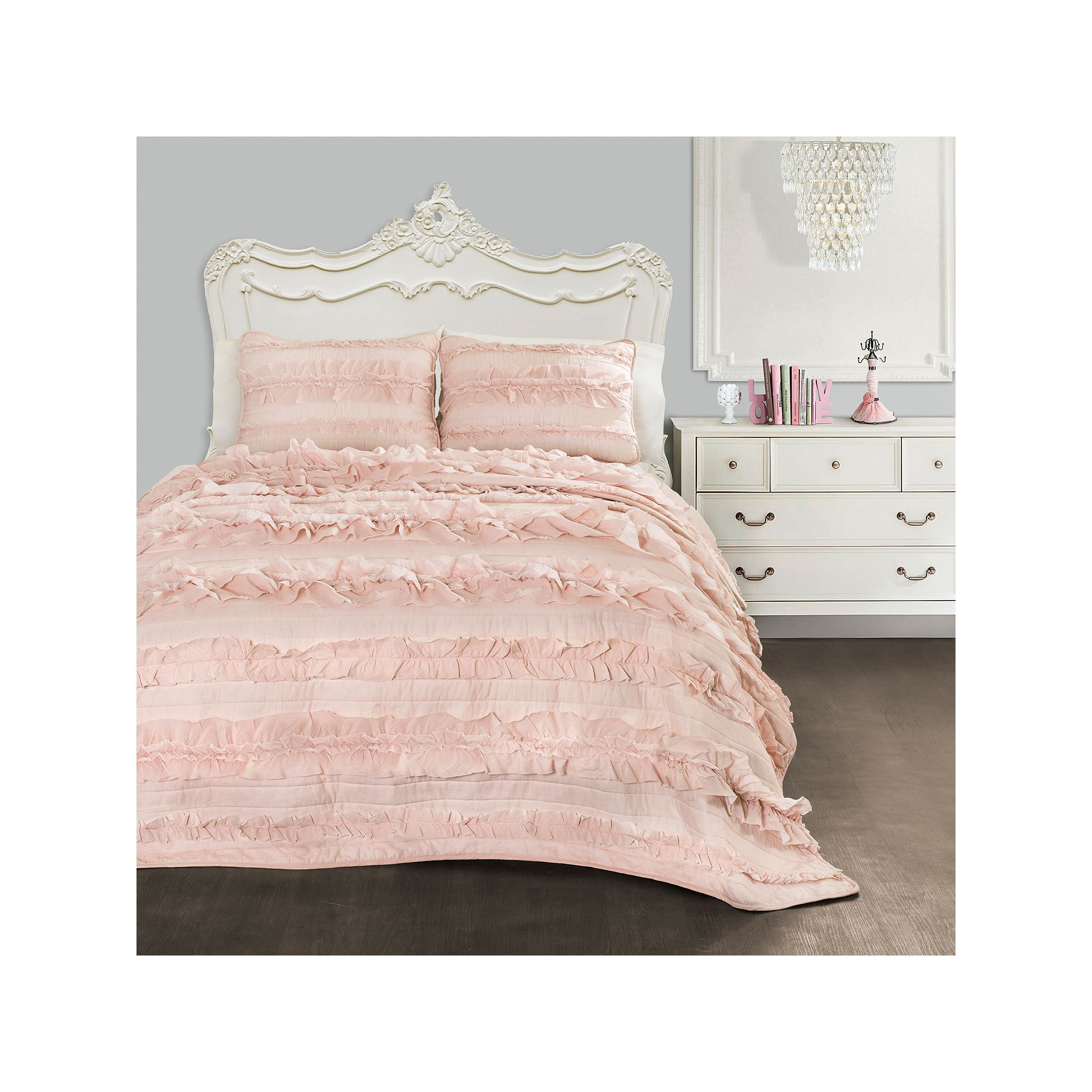 Lush Decor Belle Bedding Lush Decor Belle Quilt Set Pink  Quilt Sets 3 Piece And Bedroom