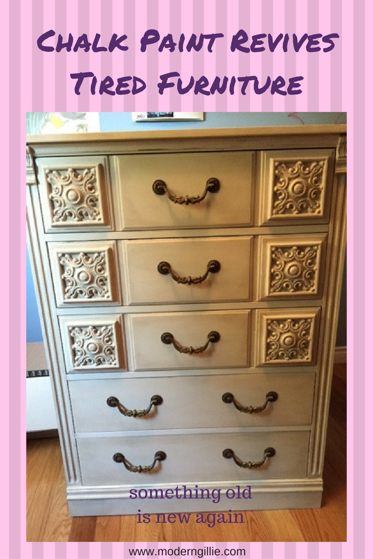 Chalk paint revives old furniture give a tired bedroom set new life