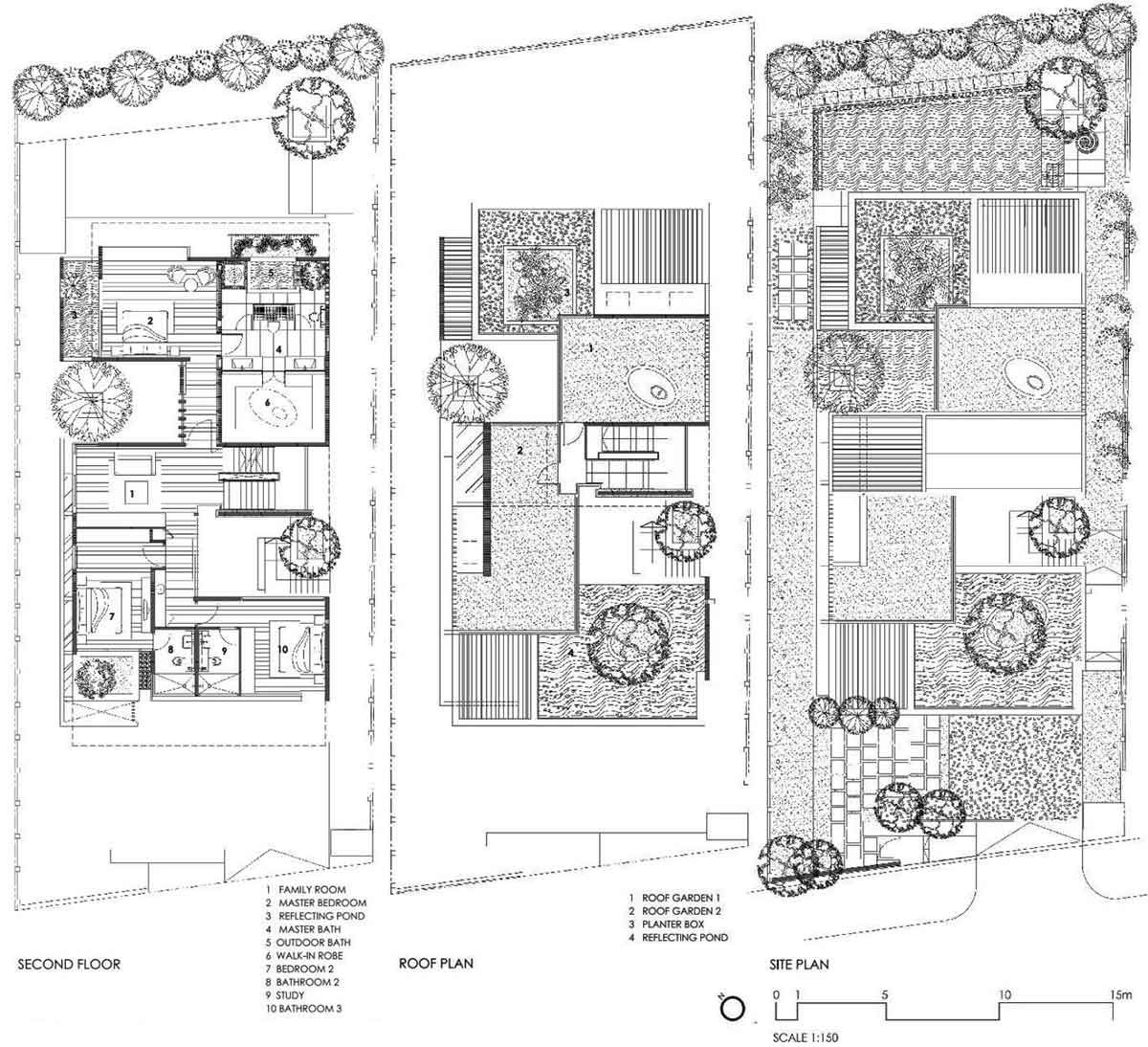 Second Floor Roof Site Plans Sunset Vale House Singapore By WOW Architects