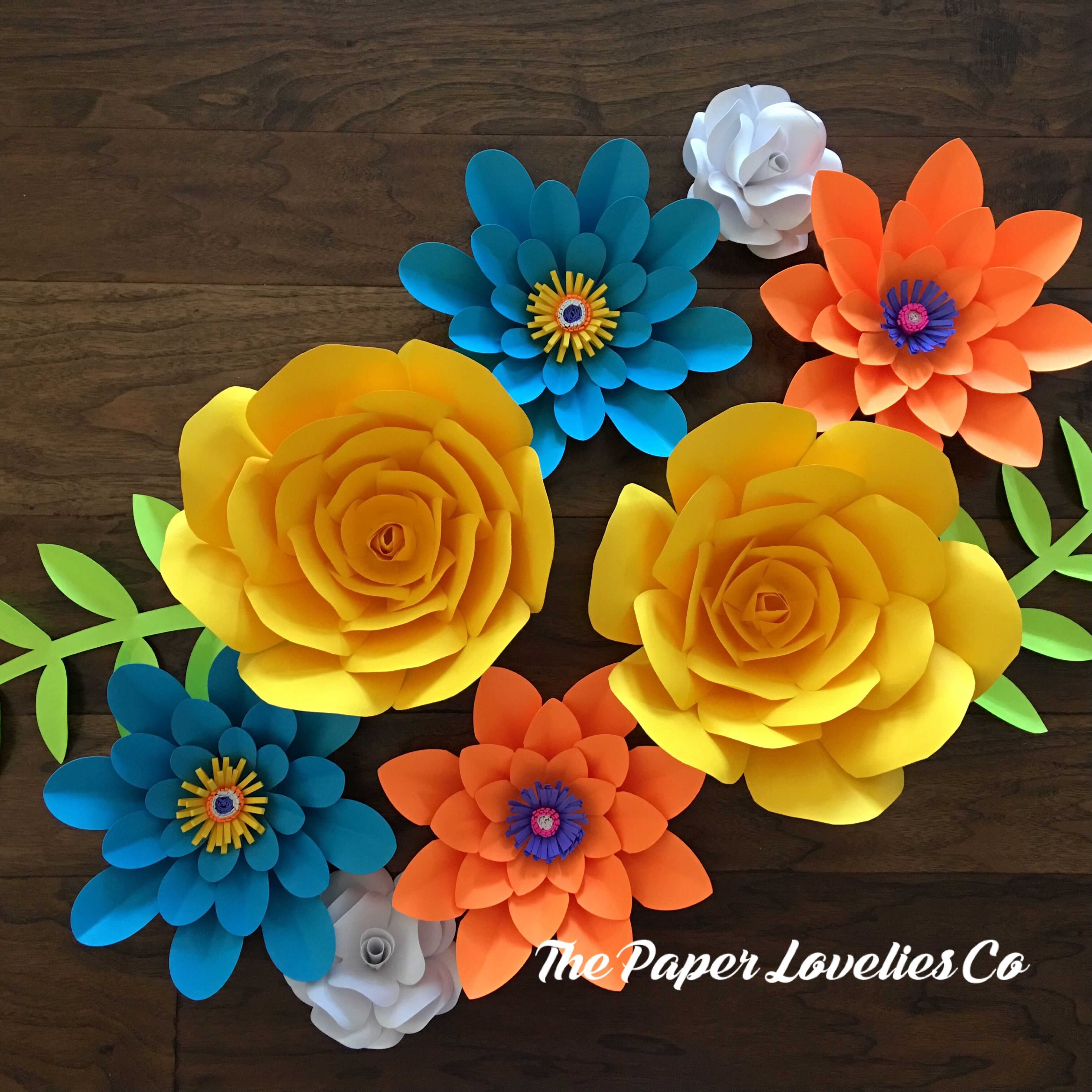 Bright and colorful paper flower set deerler eitim pinterest bright and colorful paper flower set mightylinksfo