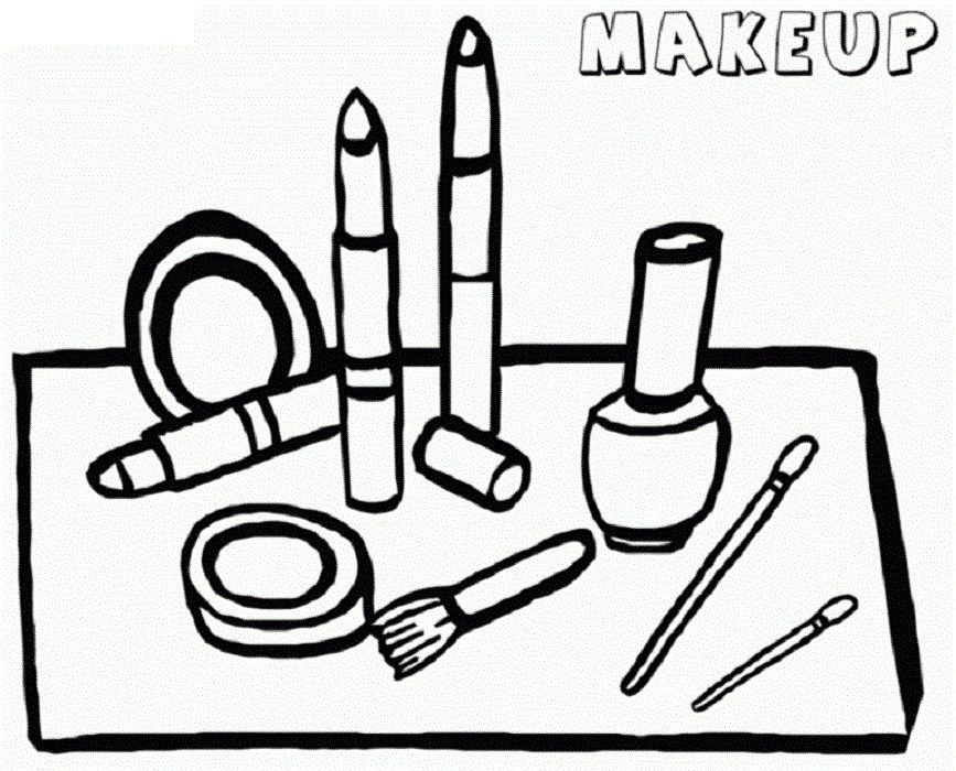 Make Up Coloring Pages Printable Shelter Colorful Makeup Makeup Kit Images Coloring Books