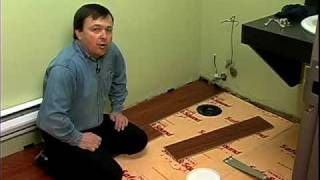 How To Install Floating Vinyl Plank Flooring Around A Toilet