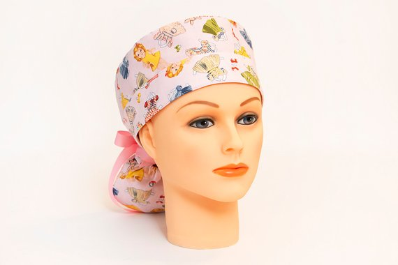 b2d3763b9e3 You're A Doll Paper Doll Cut-Outs Boy Cap Ponytail Scrub Hat ...