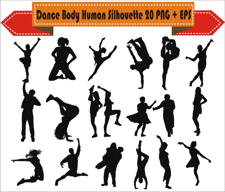 Human Body Dance Sport Break Hip Hop Beautiful Pack Silhouette Vector Clipart Png Eps Digital Files Scrapbook Supp Silhouette Vector Silhouette Vector Clipart