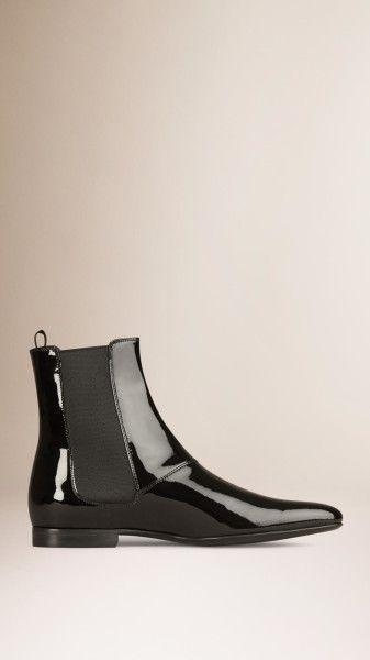 973c2f673fd Men s Black Patent Leather Chelsea Boots