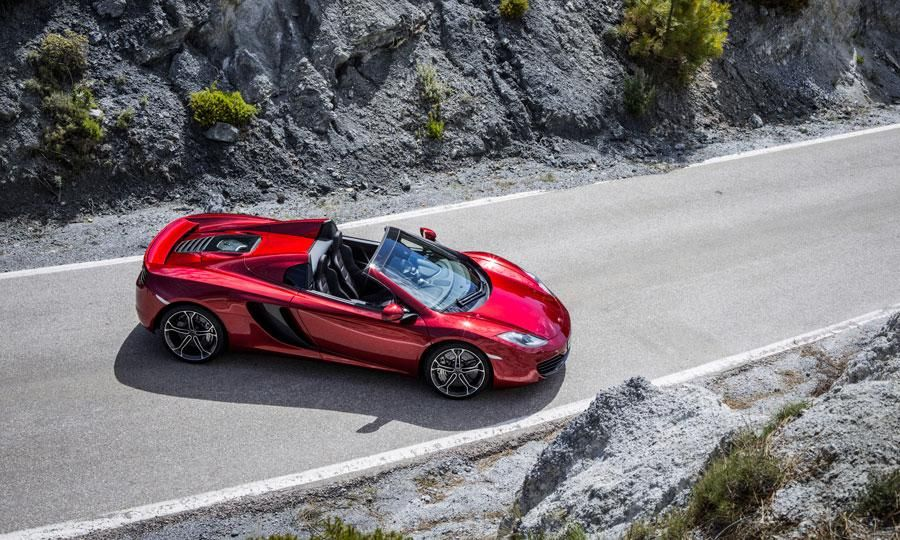 Now THIS is what I call a topless supermodel! the McLaren MP4-12C Spider