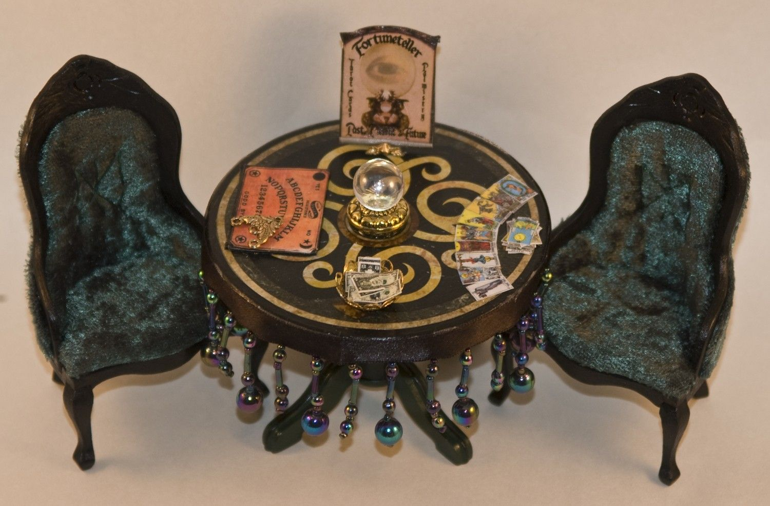 Haunted witch / gypsy / fortune teller's table.