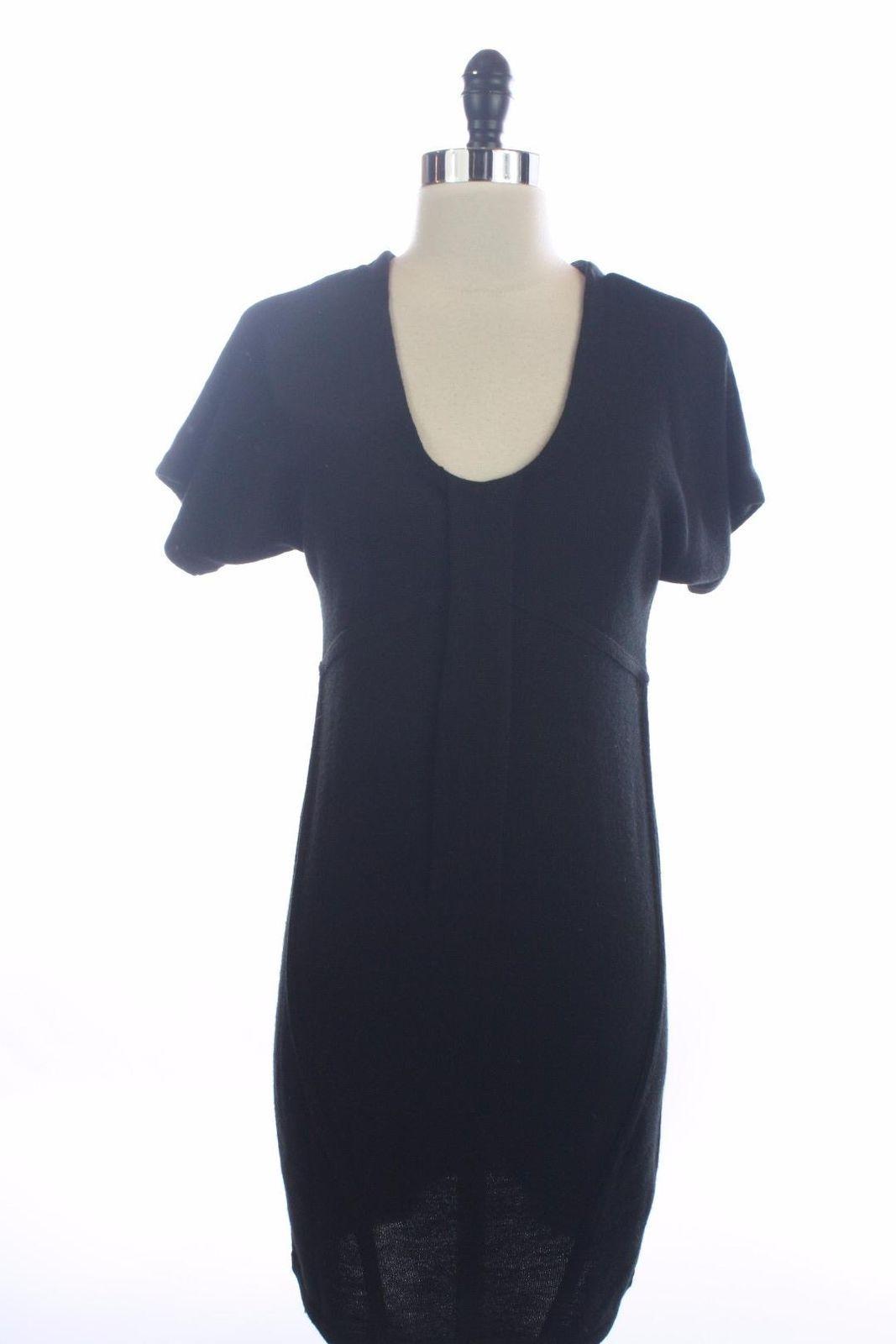 a34e1f082497c2 Awesome Amazing NWT New ANN TAYLOR LOFT Black Merino Wool SHORT SLEEVE  SWEATER DRESS Size XS