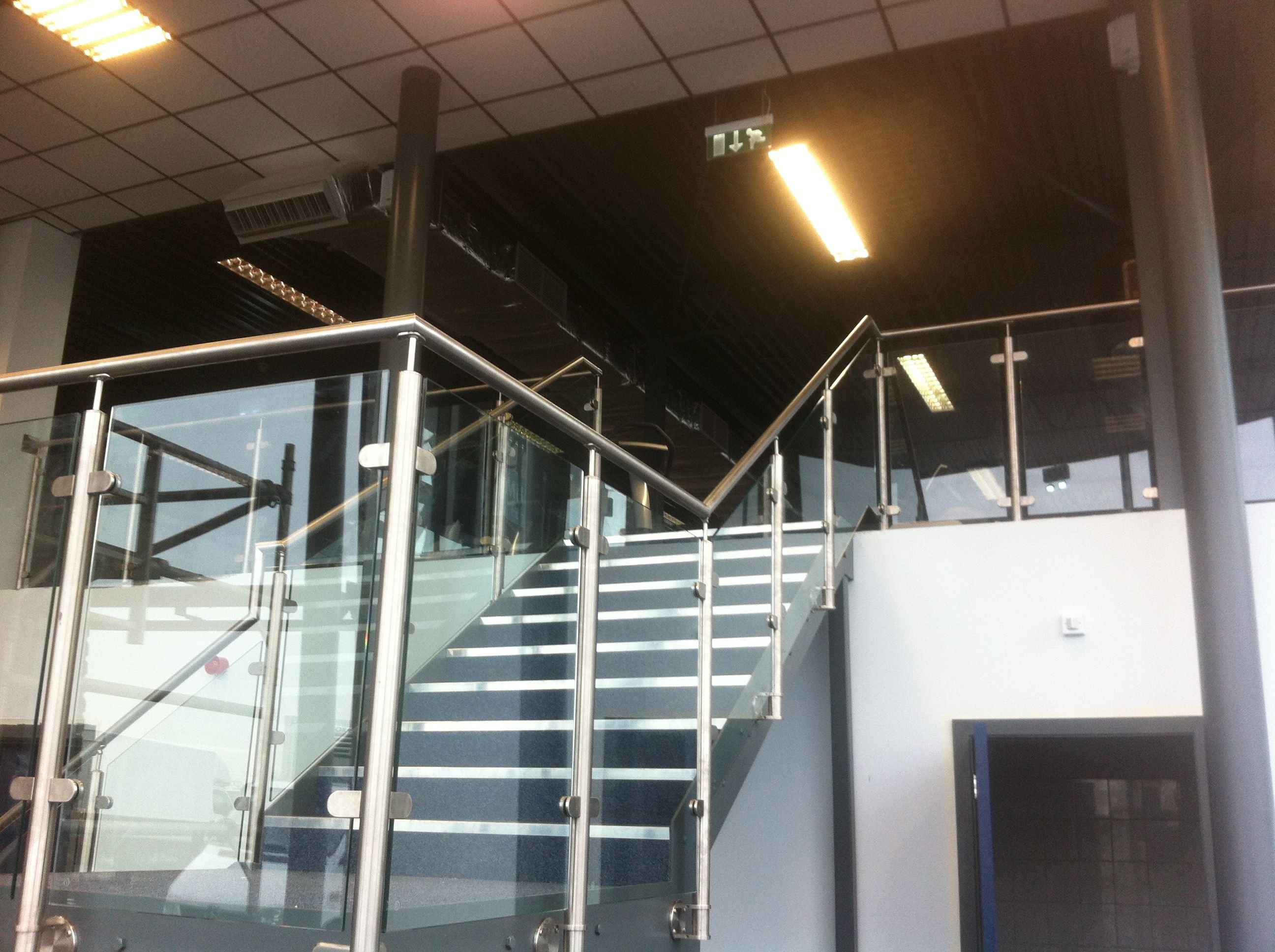 Steel Staircase With Stainless Steel Balustrade At Megagym In Birmingham