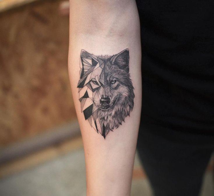 Photo of 🐺 Tatouage de loup par @tattoo_grain – #Tattoo #tattoograin #Wolf