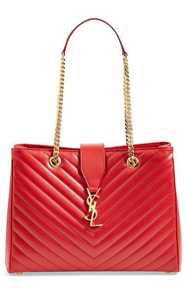 Red hot shopper by Saint Laurent #Vday
