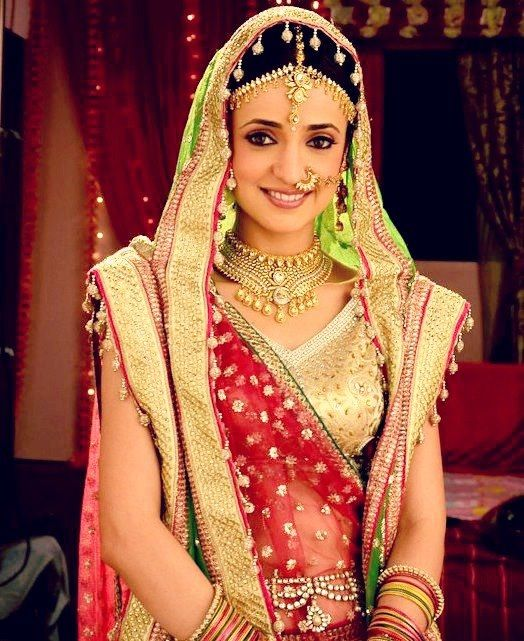 Indian bride. Its Sanaya Irani!! =D