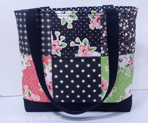 Nine Patch Totebag with Zip Close