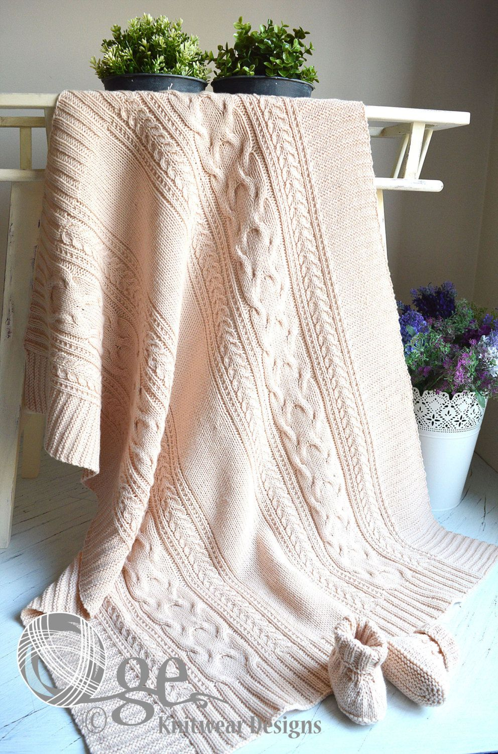 Knitting pattern for cable treasure baby blanket or throw p100 knitting pattern for cable treasure baby blanket or throw p100 simple elegant cable bankloansurffo Choice Image