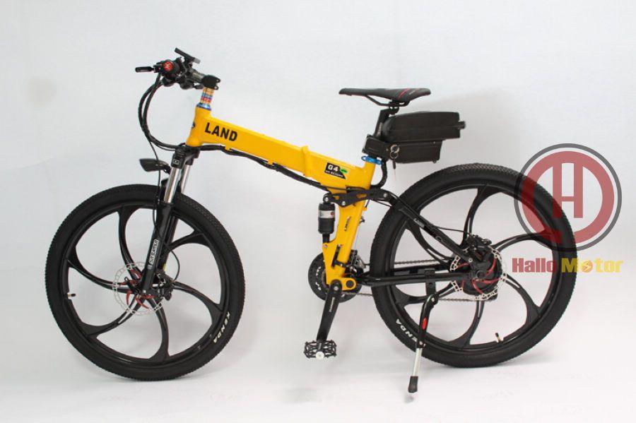 Electric Bike 48V 500W Magnesium Alloy Integral Wheel,Foldable Frame ...