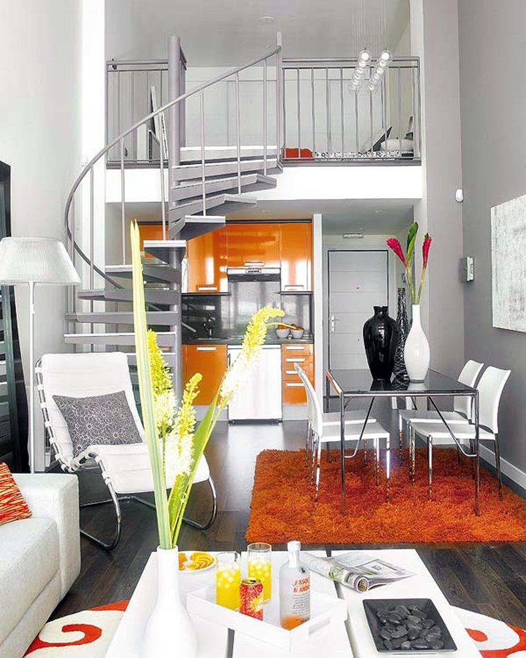 diseño de apartamento tipo loft pequeño Comedores Pinterest - departamento de soltero moderno pequeo
