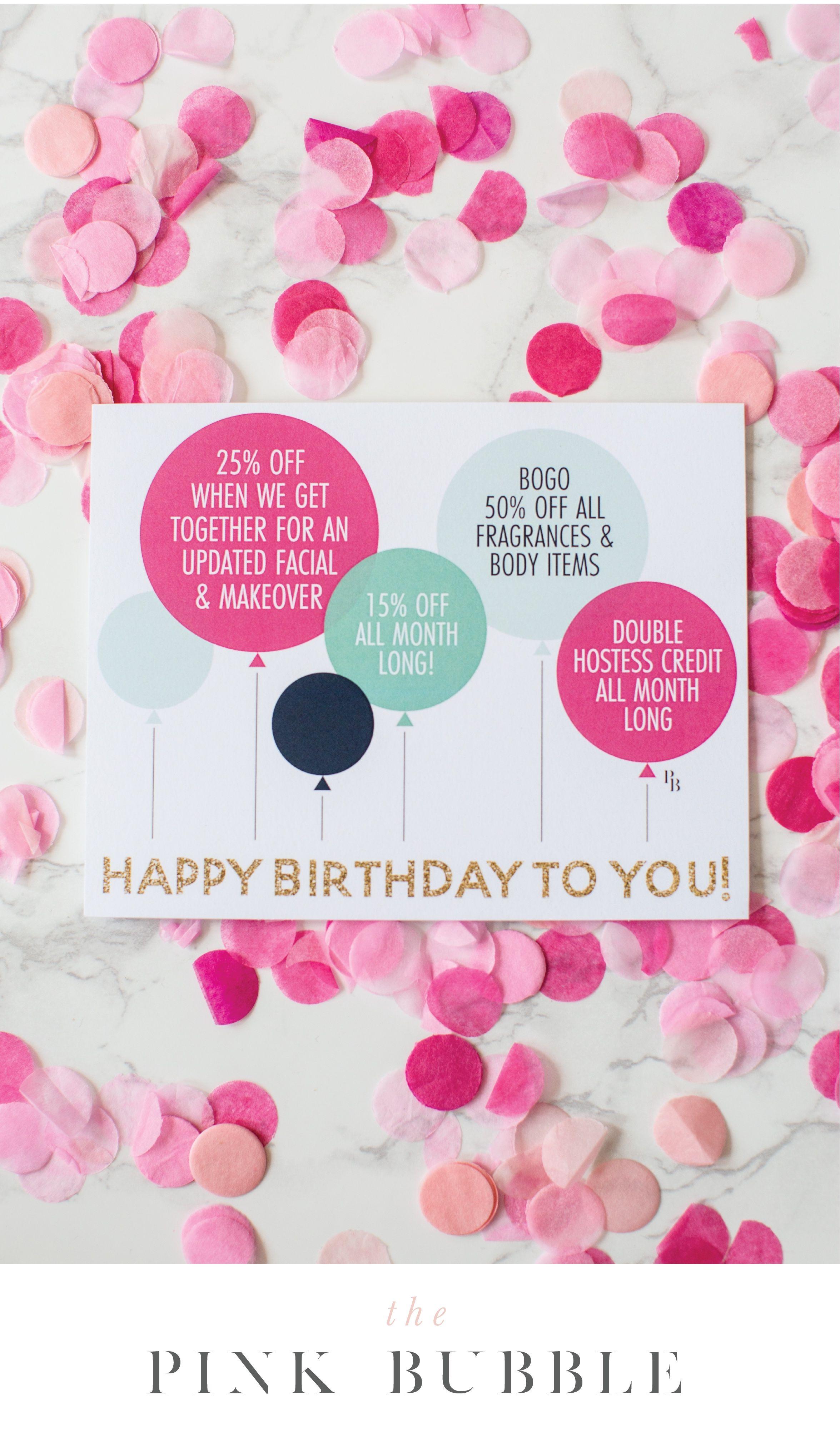 Customizable Mary Kay Printable Birthday Postcard Thepinkbubble Co Mary Kay Invitations Templates Mary Kay Postcards Mary Kay Party Invitations