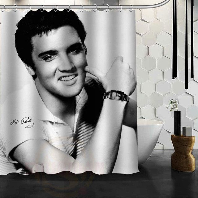 Custom Elvis Presley Shower Curtain New Large European And