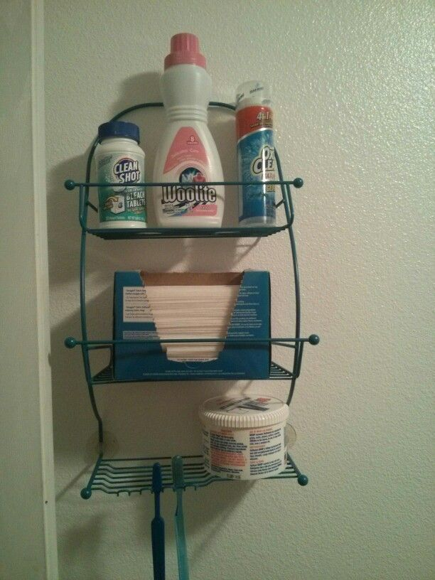 DIY: upcycled shower caddy. We cleaned and painted an old rusty ...