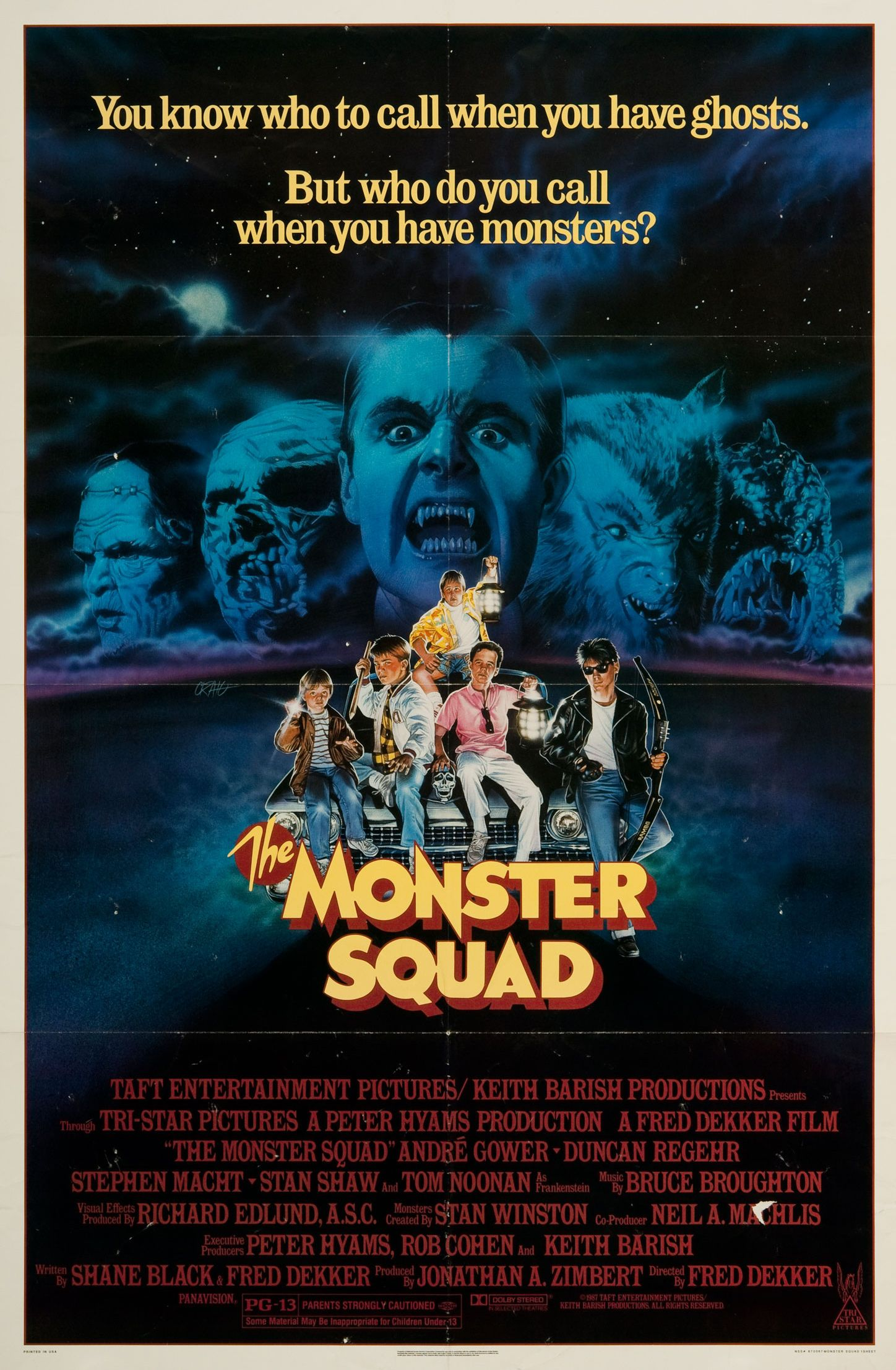 The Monster Squad is a 1987 horror comedy film written by