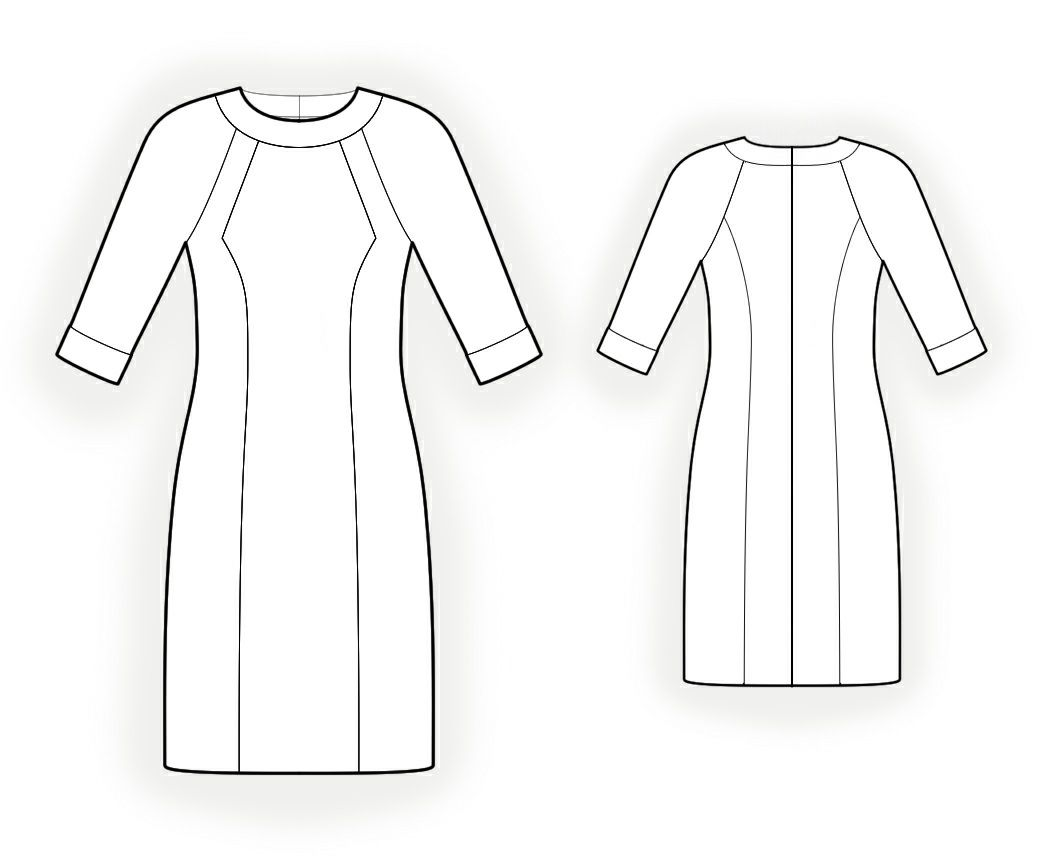 Dress With Raglan Sleeves - Sewing Pattern #4199 Made-to-measure ...
