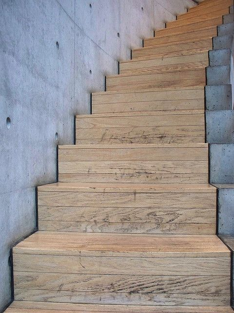 Tadao Ando concrete and timber, shadow line Archiboard Pinterest